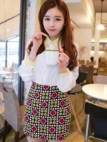 กระโปรงสั้น กระโปรงแฟชั่นเกาหลี เอวสูง เข้ารูป ลายน่ารัก กระโปรงทำงาน กระโปรงลำลอง กระโปรงใส่เที่ยว (ใหม่ พร้อมส่ง) ladyshop4U