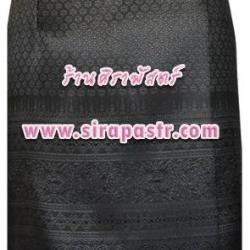 "ผ้าถุงป้ายข้าง-สั้น สีดำ (เอวใส่ได้ถึง 30"") *รายละเอียดสินค้าในหน้าฯ (สินค้าลดราคา)"