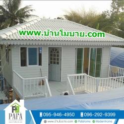 บ้านขนาด 4*6 เมตร ระเบียง 2*6+1*3 เมตร ยกสูง 2 เมตร (1 ห้องนอน 1 ห้องน้ำ 1 ห้องนั่งเล่น)