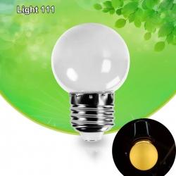 หลอดปิงปอง LED 3w ขั้ว E27 หลอดสีวอมไวท์ (หลอดขุ่น)