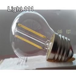 หลอดปิงปองฟิลาเมน วินเทจ (LED) หรือ หลอดปิงปอง เอดิสัน (LED) 2 w รุ่น G45