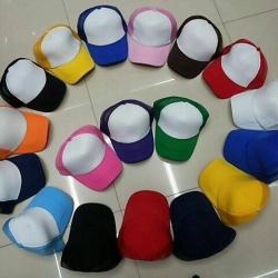 หมวกสีล้วนสำหรับปักโลโก้