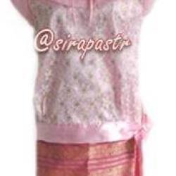 ชุดไทย ร.7 เสื้อฯ+ผ้าถุงป้ายข้าง(สั้น)สำเร็จรูป *สี-size เสื้อฯมีเฉพาะที่เปิดให้ทำรายการ/รายละเอียดในหน้าสินค้า