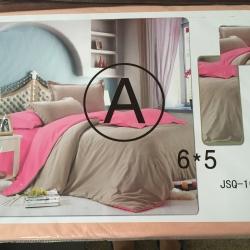ผ้าปูที่นอน สีพื้น เกรดA 6ฟุต 5ชิ้น คละลาย ชุดละ 165 บาท ส่ง 40ชุด