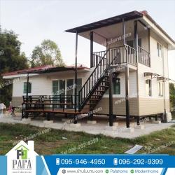บ้านเเฝดชั้นล่าง 11*6 เมตร พร้อมระเบียง 2*4 เมตร ชั้นบน 3*4 เมตร ระเบียง 2*3 เมตร (3 ห้องนอน 2 ห้องน้ำ 1ห้องโถง 1ห้องครัว)