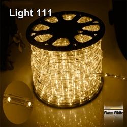 ไฟสายยาง LED (ท่อกลม) 100 m สีวอมไวท์
