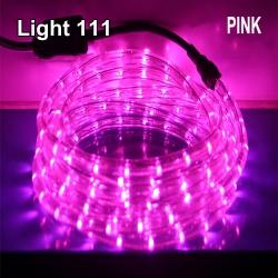 ไฟสายยาง LED (ท่อกลม) 10 m. สีชมพู