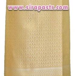 ผ้าถุงป้ายข้าง-สีครีมทอง (เอวใส่ได้ถึง 36 นิ้ว) *รายละเอียดในหน้าสินค้า