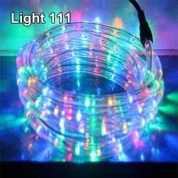 ไฟสายยาง LED (ท่อกลม) 10 m. สีรวม