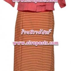 ชุดภาคเหนือ N-F2 สีแดง (*รายละเอียดในหน้าสินค้า / แจ้ง size เสื้อฯ)