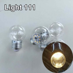 หลอดปิงปอง LED 3w ขั้ว E27 หลอดสีวอมไวท์ (หลอดใส)