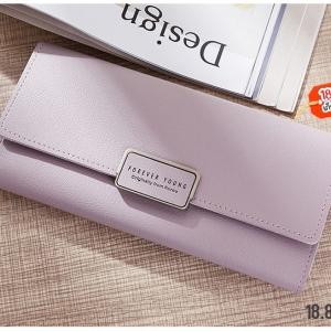 P101 กระเป๋าตังค์สี Pastel ม่วง