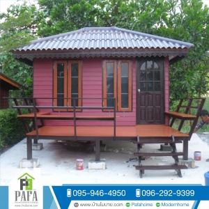 บ้านน็อคดาวน์ บ้านโมบาย บ้านสำเร็จรูป ขนาด3*4 เมตร เพิ่มระเบียง2*4 เมตร (1 ห้องนอน 1 ห้องน้ำ)