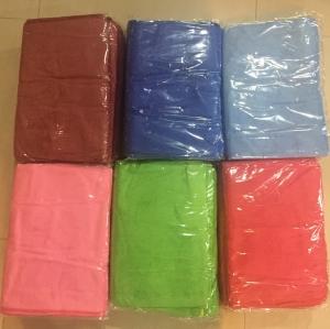 ผ้าเช็ดผม นาโน สีพื้น คละสี 30*70ซม โหลละ 145บาท ส่ง 48โหล
