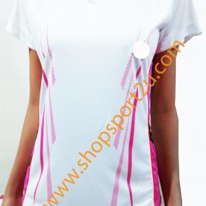เสื้อกีฬา ad....s สีขาว - ชมพู