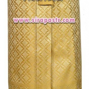 """ผ้าถุงป้าย-หน้านาง N2-2A สีทอง (เอวใส่ได้ถึง 28"""") *แบบสำเร็จรูป-รายละเอียดตามหน้าสินค้า"""