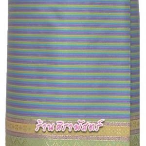 ผ้าถุงป้ายข้าง-ผ้าไหมฯ M3 สีฟ้า (เอวใส่ได้ถึง 34 นิ้ว) *รายละเอียดในหน้าสินค้า
