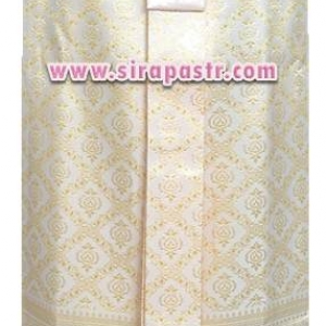 ผ้าถุงป้าย-หน้านาง BM-7 สีครีมขาว (เอวใส่ได้ถึง 34 นิ้ว) *แบบสำเร็จรูป-รายละเอียดตามหน้าสินค้า