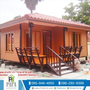 บ้าน ขนาด 4*6 ต่อเติมห้องครัว ขนาด 1.5*2 เมตร (1ห้องนอน 1ห้องครัว 1ห้องน้ำ 1ห้องรับเเขก)