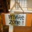 ป้ายแต่งบ้าน Private zone thumbnail 1
