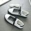 รองเท้าผ้าใบหนังนิ่มสีขาว ได้เชือก 2 สี [พร้อมส่ง] thumbnail 5