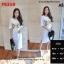 F9319 Long dress เดรสยาว ผ่าข้าง สกรีน GUCCI สุดฮิต สีขาว thumbnail 1