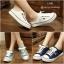 รองเท้าผ้าใบแฟชั่นผู้หญิงเปิดส้น สูง 2 ซม. (พรีออเดอร์) thumbnail 4