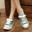 รองเท้าผ้าใบแฟชั่นผู้หญิงเปิดส้น สูง 2 ซม. (พรีออเดอร์) thumbnail 3