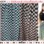 กระโปรงชีฟองลายตารางสี่เหลี่ยม สีขาว-ดำ 1F thumbnail 1