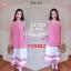 F10302 Maxi dress ลายสก๊อต สีแดง แต่งชายระบาย สลับสี มีกระเป๋าข้าง งานใส่ยางหลัง thumbnail 2