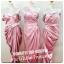 ชุดราตรีสีชมพูผ้าซาตินสวยๆ ให้เช่าในราคาถูก 500-700บาท thumbnail 1