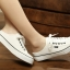 รองเท้าผ้าใบแฟชั่นผู้หญิงเปิดส้น สูง 2 ซม. (พรีออเดอร์) thumbnail 2