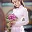 ชุดเวียดนามผู้หญิง สีชมพูอ่อน (งานสั่งตัดพิเศษ) thumbnail 1