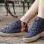 รองเท้าผ้าใบผู้หญิงหุ้มข้อแต่งซิปข้าง เสริมด้านในรวม 4.5 ซม. (พร้อมส่ง) thumbnail 3