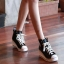 รองเท้าผ้าใบส้นสูงผู้หญิง งานเกาหลี สูง 6 ซม. (พรีออเดอร์) thumbnail 2