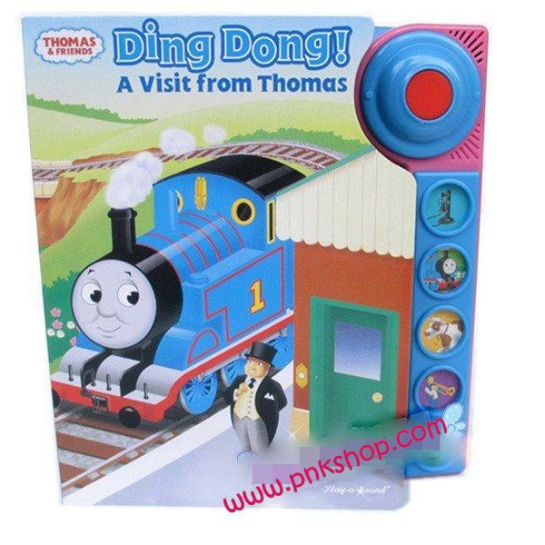 หนังสือนิทาน บอร์ดบุ๊ค กดมีเสียงเพลง ของดิสนีย์ เรื่องDing Dong A visit form Thomas