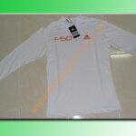 เสื้อฟิต adidas F50 สีขาว สกรีนส้ม