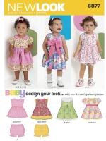 แพทเทิร์นตัดเสื้อผ้าเด็กหญิง ยี่ห้อ NewLook (6877) ไซส์ NB-S-M-L
