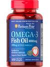 Puritan's Pride Omega 3 Fish Oil 1000 mg. 100 Softgels บำรุงสมอง หัวใจแข็งแรง ลดคอเลสเตอรอล
