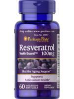 Resveratrol 100 mg. 60 Softgels สารสกัดจากไวน์แดงชะลอวัย ยืดอายุ ลดริ้วรอย