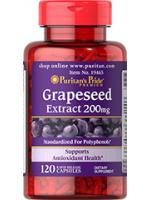 Puritan's Pride Grapeseed Extract 200mg. 120 capsules สารสกัดจากเมล็ดองุ่น ต้านริ้วรอย ผิวขาวใส ลดฝ้ากระ