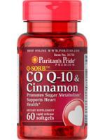 CO Q-10 120mg. ผสม Cinnamon 1000mg. โคคิวเท็นและซินนาม่อน 60 ซอฟเจล ต้านแก่ ลดจุดด่างดำ สุดยอดอาหารเสริมแห่งการย้อนวัย
