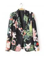 [พร้อมส่ง] STW0019 เสื้อสูทเบลเซอร์ลายดอกไม้
