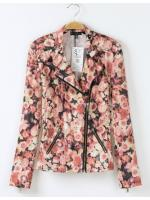 [พร้อมส่ง] STW0033 Zippy Floral Printed Jacket