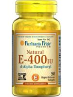Puritan'Pride Natural Vitamin E 400 IU 50 softgels. วิตามินอีชะลอความชราภาพของผิว ลดริ้วรอยเหี่ยวย่น ลดหลุมสิว