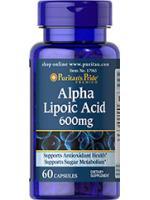 Alpha Lipoic Acid 600 mg 60 Capsules. ALA ชะลอวัย ต้านอนุมูลอิสระ เร่งขาวเมื่อทานคู่กลูต้า