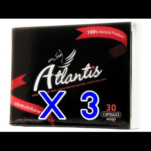 ซื้อ 3 แถม 3 / ซื้อ 3 กล่องใหญ่ แถมฟรี กล่องใหญ่อีก 1 กล่อง Atlantis แอตแลนติส ผลิตภัณฑ์เสริมอาหาร สำหรับผู้ชาย ยาเพิ่มสมรรถภาพ บำรุงร่างกาย อาหารเสริม ปลุกความเป็นชายในตัวคุณ ผลิตจาก สมุนไพร 100% มี อย. GMP