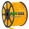 ไฟสายยาง หลอดธรรมดา (ท่อกลม) 100 m สีเหลือง