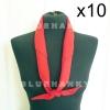 10ผืน สีแดง ผ้าพันคอสามเหลี่ยม ลูกเสือ 100 ซม
