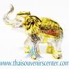 ของพรีเมี่ยม ของที่ระลึกไทย ช้าง แบบ 6 Size S สีเงินทอง